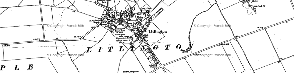 Old map of Limlow Hill in 1885