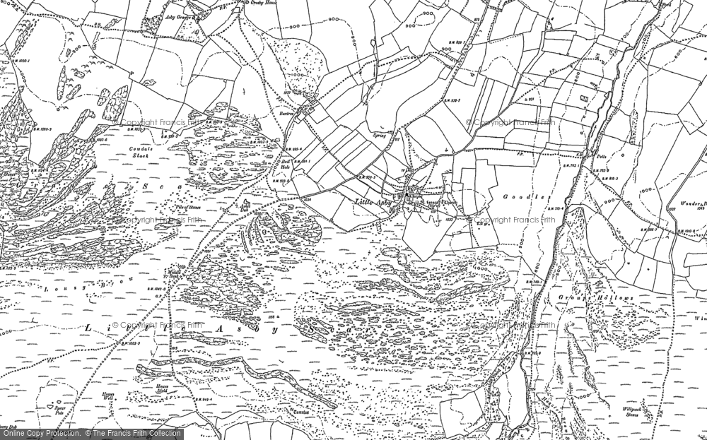 Old Map of Historic Map covering Asby Grange in 1897