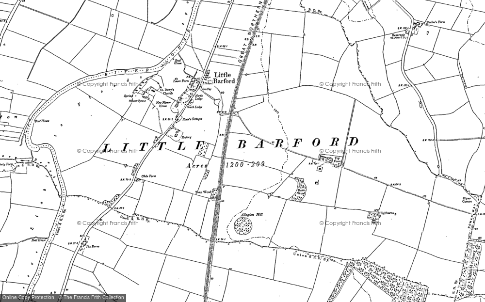 Old Map of Historic Map covering Alington Hill in 1900
