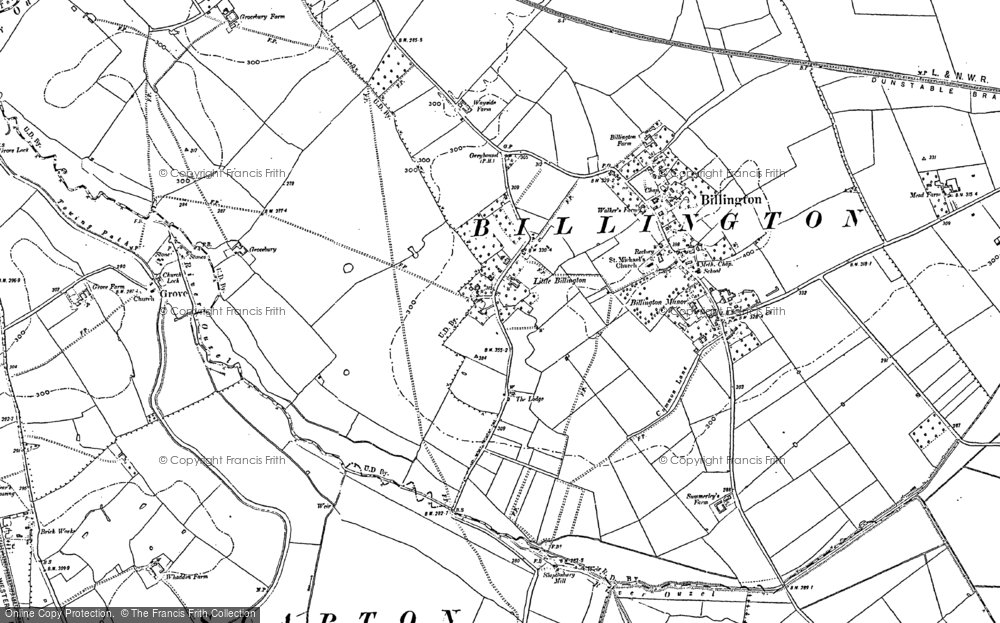 Old Map of Historic Map covering Billington in 1900