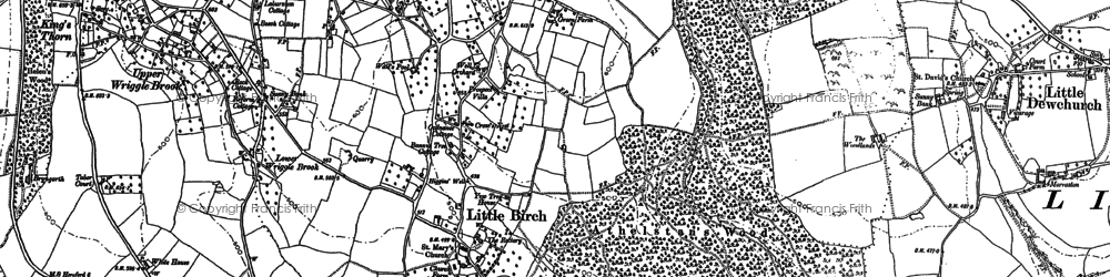 Old map of Athelstans Wood in 1886