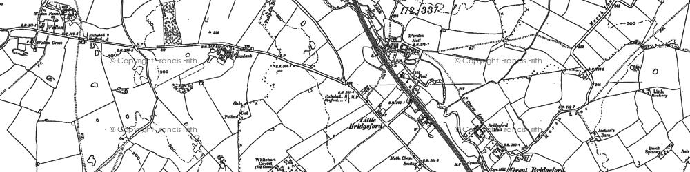 Old map of Whitehart Covert in 1879