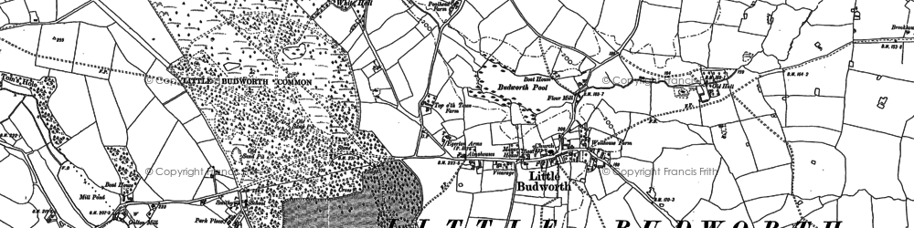 Old map of White Hall, The in 1897