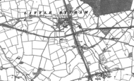 Old Map of Little Bytham, 1887