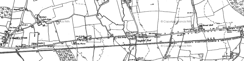 Old map of Langthorns in 1895