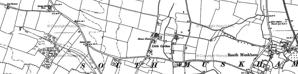 Old map of Little Carlton in 1884