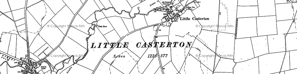 Old map of Tolethorpe Hall in 1903