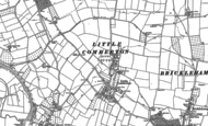 Old Map of Little Comberton, 1884