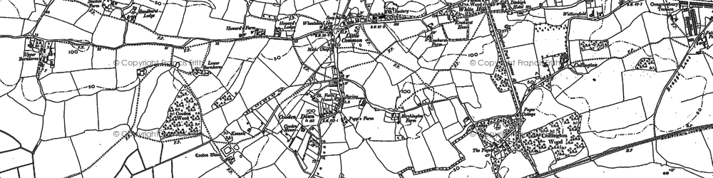 Old map of Little Common in 1908