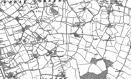 Old Map of Little Cornard, 1885 - 1902