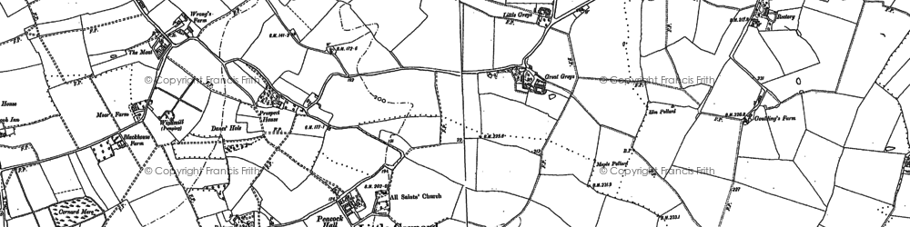 Old map of Workhouse Green in 1885