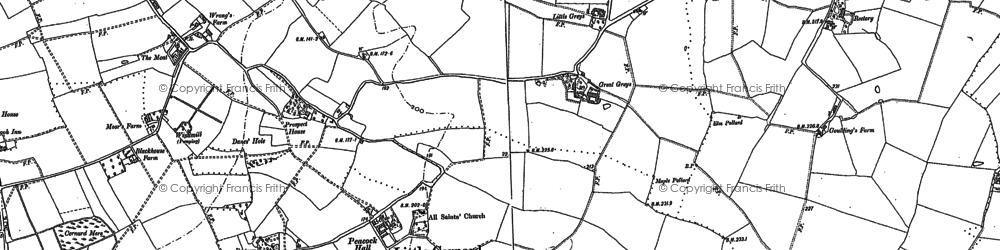 Old map of Little Cornard in 1885