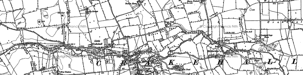 Old map of Crakehall in 1890