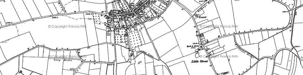Old map of Westmoor Common in 1885
