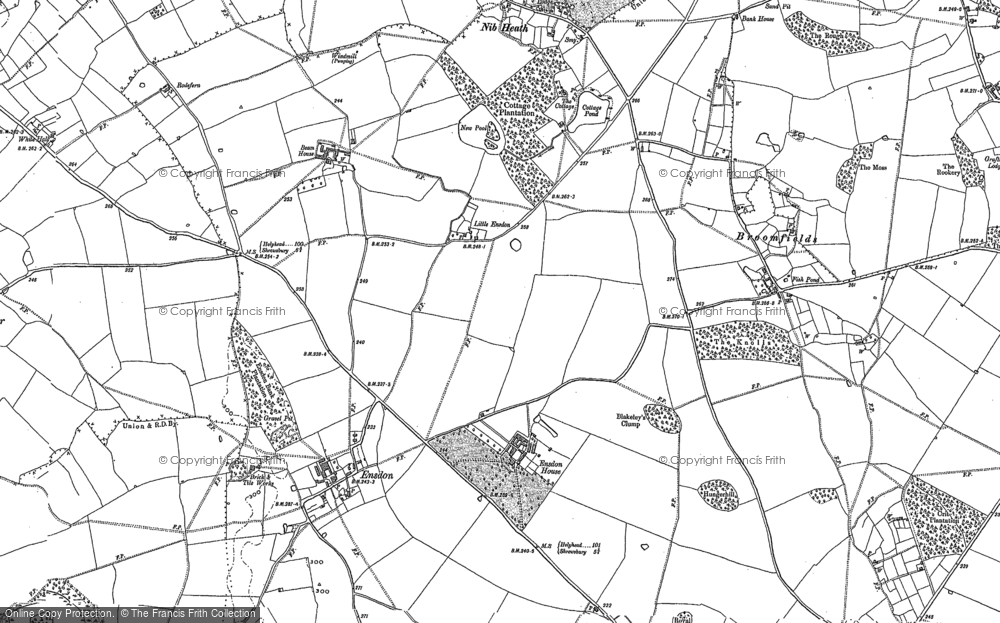 Old Map of Little Ensdon, 1881 in 1881