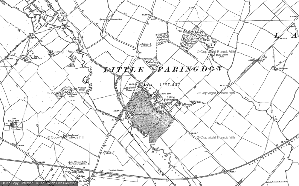 Old Map of Historic Map covering Langford Ho in 1896