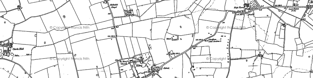 Old map of Ling's End in 1882