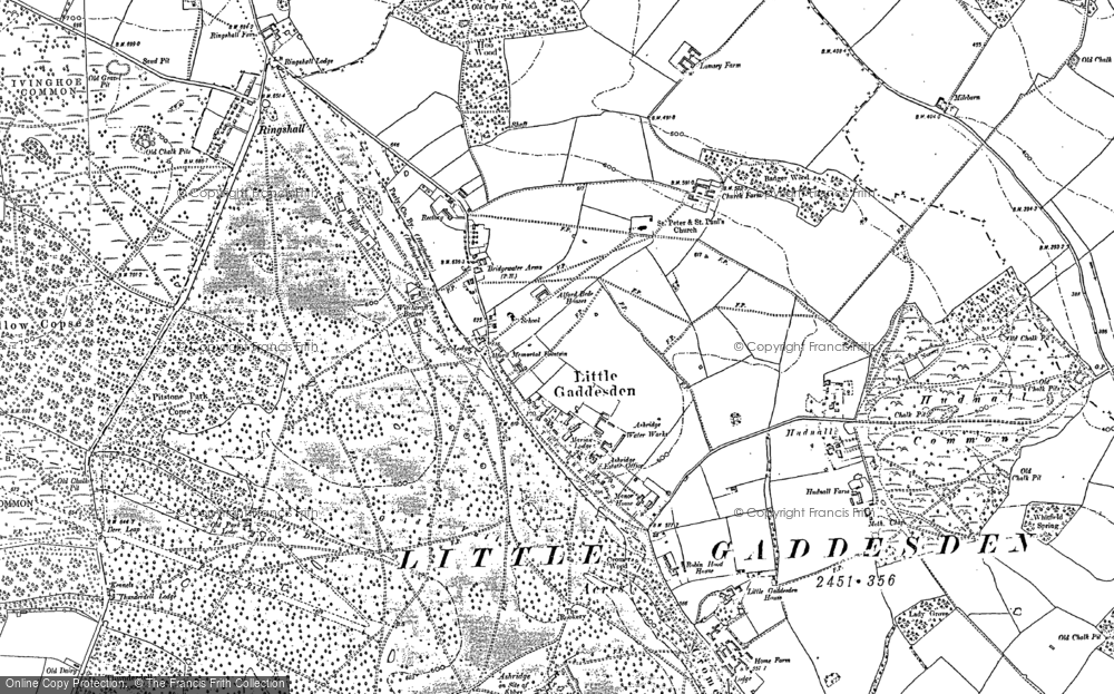 Old Map of Historic Map covering Ashridge (Coll) in 1897