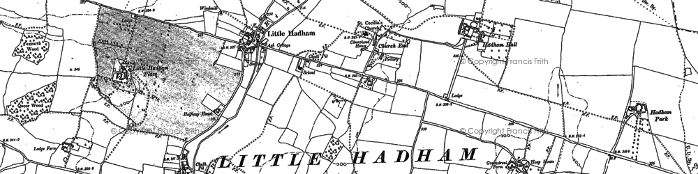 Old map of Hadham Ford in 1896