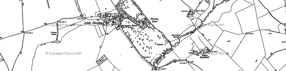 Old map of Little Haseley in 1897