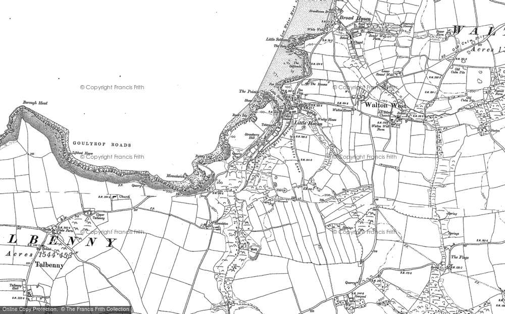 Old Map of Historic Map covering Woodlands in 1906
