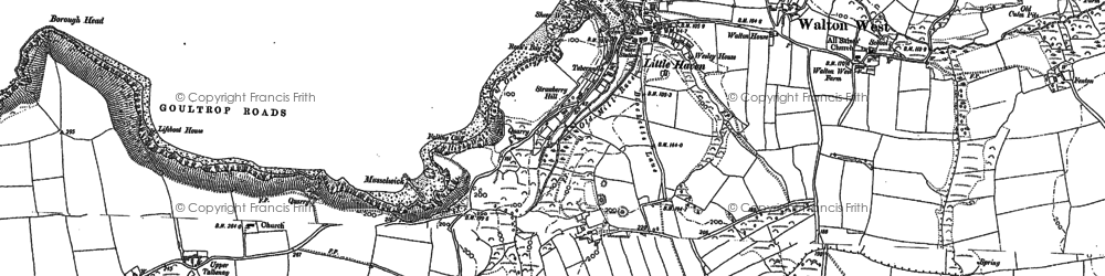 Old map of Little Haven in 1906