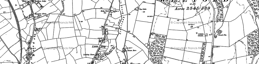 Old map of Moneymore in 1883