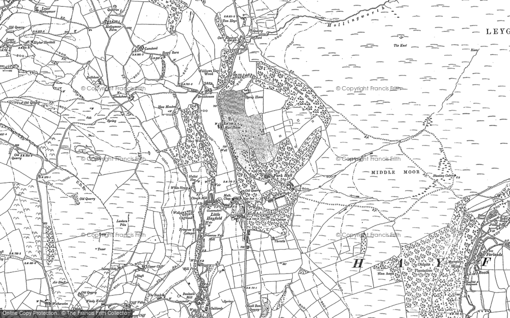 Old Map of Historic Map covering Lantern Pike in 1880