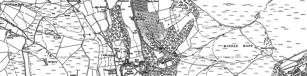 Old map of Little Hayfield in 1880