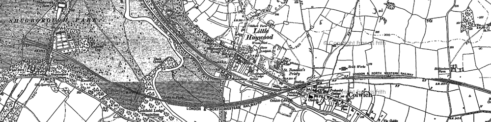 Old map of Little Haywood in 1881