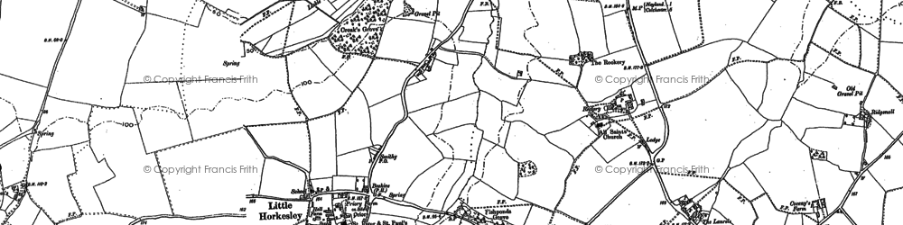 Old map of Wissington in 1896
