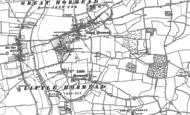 Old Map of Little Hormead, 1896 - 1916