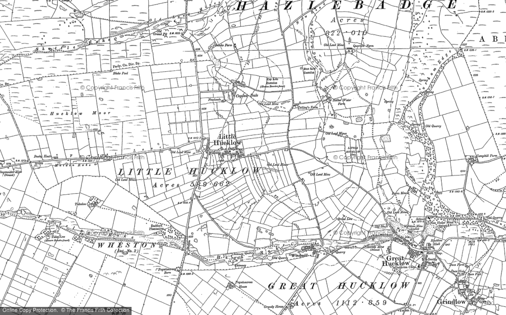 Old Map of Historic Map covering Whiterake in 1880