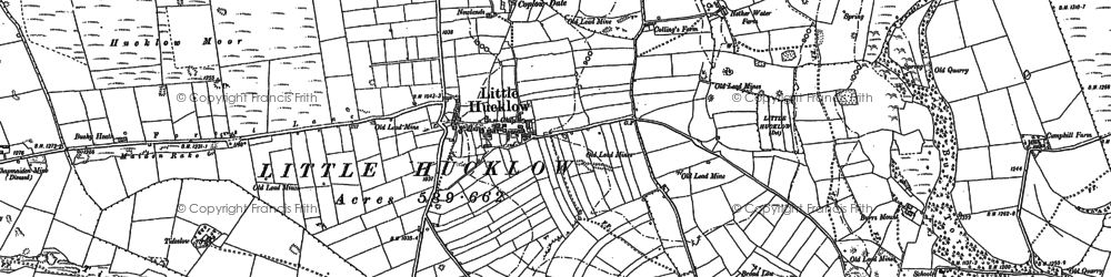 Old map of Whiterake in 1880