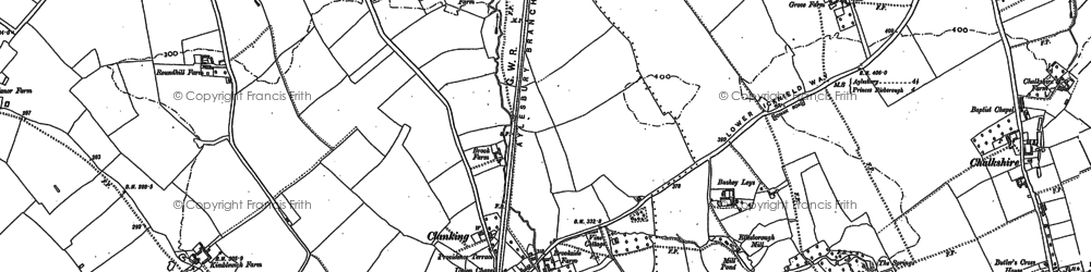Old map of Clanking in 1897