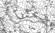 Old Map of Little Leigh, 1897
