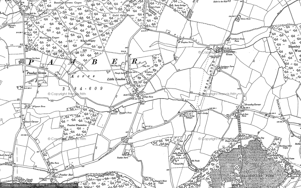 Old Map of Historic Map covering Latchmere Green in 1894