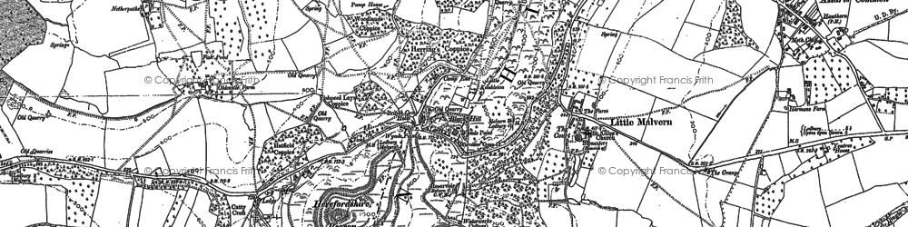 Old map of Little Malvern in 1884