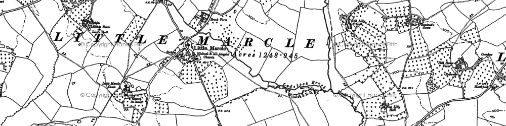 Old map of Ast Wood in 1903