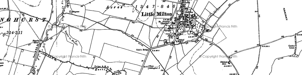 Old map of Little Milton in 1897