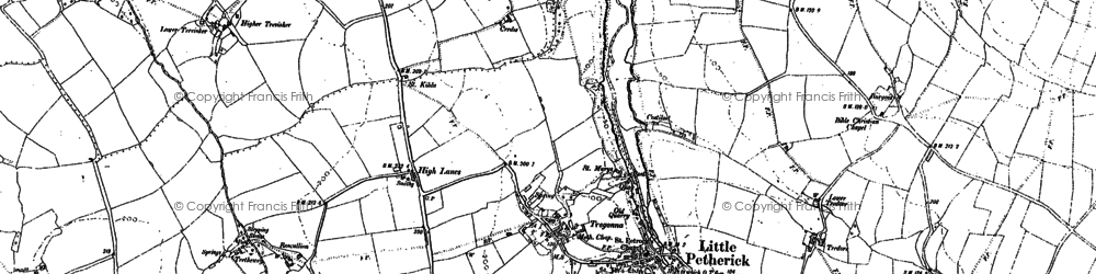 Old map of Little Petherick in 1880