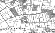 Old Map of Little Plumstead, 1881