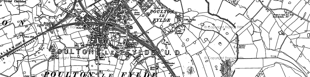 Old map of Wyre Way in 1891