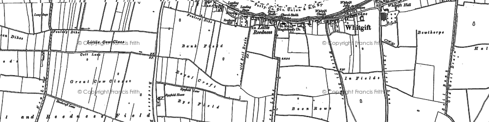 Old map of Whitgift Ness in 1888