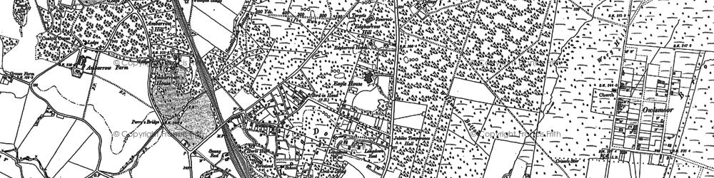 Old map of Little Sandhurst in 1909