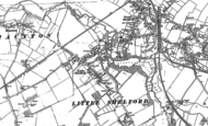 Old Map of Little Shelford, 1885