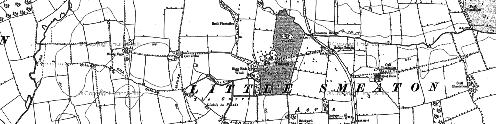 Old map of Westhorpe in 1891
