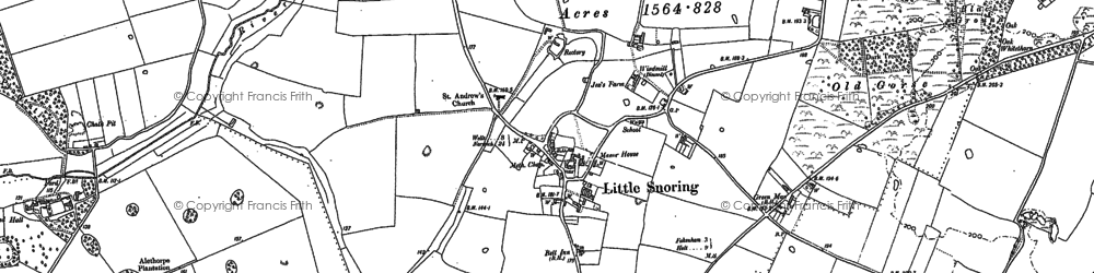 Old map of Alethorpe Hall in 1885