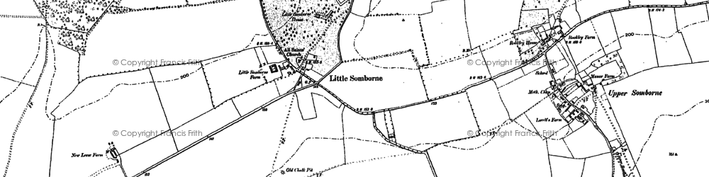 Old map of Winter Down Copse in 1894