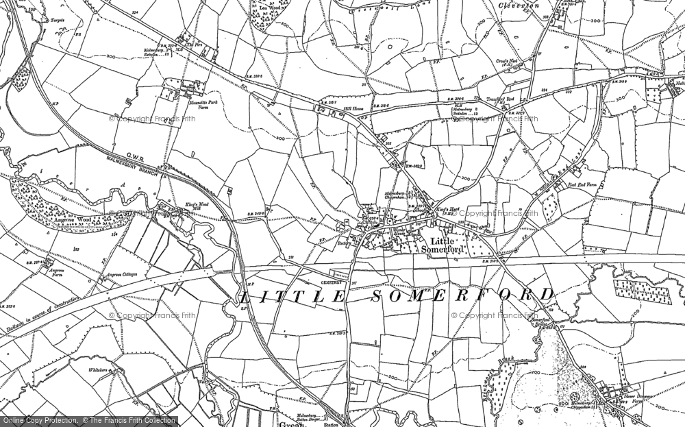 Old Map of Little Somerford, 1899 in 1899
